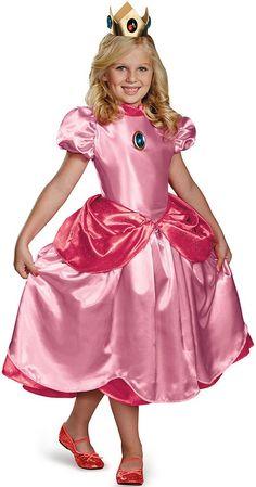 Este disfraz de Peach™ es perfecto para encarnar a tu princesa de  videojuegos preferida en 7651bf1fc65