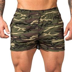 00979726631 Men s Fitted Gym Workout Shorts Gym Shorts