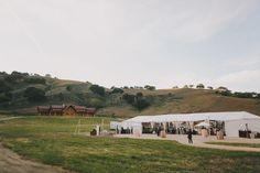 Wedding reception tent at Pioneer Log Cabins | Pioneer Ranch, California Wedding | Lovelyfest Event Design