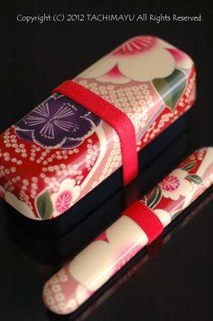 Japanese bento box and chopstick case
