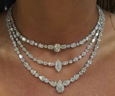 Diamond Necklaces : Nsouli jewellery #Jewelrytrends