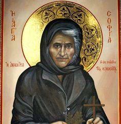 Sophia the Eldress of Kleisoura - May 6 Orthodox Catholic, Orthodox Christianity, Byzantine Icons, Byzantine Art, Religious Icons, Religious Art, Faith Of Our Fathers, Roman Church, Holy Mary