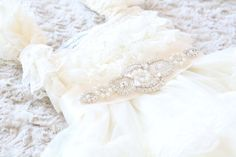 Hey, I found this really awesome Etsy listing at https://www.etsy.com/ca/listing/246981457/ivory-lace-rhinestone-pearl-flower-girl
