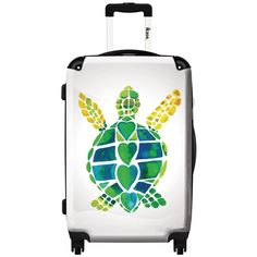 iKase 'Turtle Love' ,Carry-on 20-inch,Hardside, Spinner Suitcase