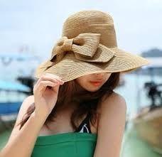 1e79266e mujer sombrero playa - Buscar con Google Sombreros De Playa, Sombreros Y  Tocados, Verano