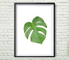 Tropical Leaf Print Monstera Print Printable от Artvintagedecor