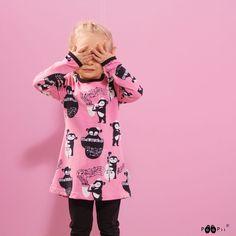 PaaPii Design VIENO tunic, Rhythm Onesies, Tunic, Sweatpants, Leggings, Black And White, Shorts, Grey, Pink, Clothes
