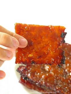 Homemade Chinese Pork Jery (Bak Kwa) 肉干 by NasiLemakLover-Jan, via Flickr