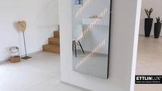 Ein Wandspiegel, der dem Flur zugleich eine wohnliche Atmosphäre schenkt. Mit Touchsensor zum Ein- und Ausschalten. Modern, Divider, Room, Design, Furniture, Home Decor, Interior, Lighting, Homes
