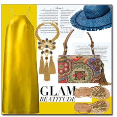 Glam Beatitude by littlefeather1 on Polyvore featuring Erika Cavallini Semi-Couture, Cocobelle, Mary Frances Accessories, Gypset, Stella T., topsets, polyvoreeditorial, topset and outfitsonly