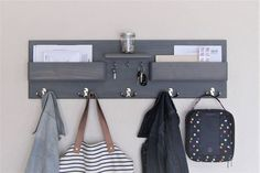 Excited to share this item from my shop: Entryway Organizer Kids Coat Rack with Mail Storage Key Rack Backpack Hooks Command Center Wall Organizer Kids Storage Entryway Coat Rack, Entryway Storage, Entryway Organization, Entryway Wall, Mail Storage, Key Storage, Home Improvement Projects, Home Projects, Kids Coat Rack