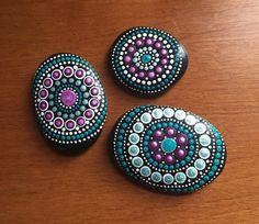 made to order mandala stone by DotsOfPaintCreations on Etsy