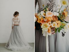 Modern Spring Inspiration meets classic romance in this gown by Mignonette Bridal