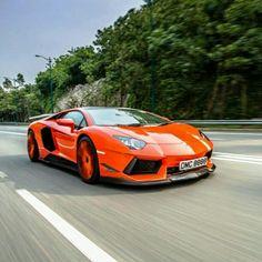 Lamborghini Aventador cruising in the sun