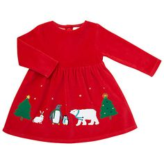d7293f01f Buy John Lewis Baby Velour Christmas Dress, Red Online at johnlewis.com  Baby's First