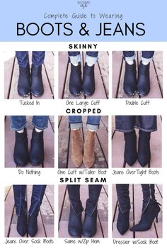 The Complete Guide to Wearing Boots with Jeans - Klicke um das Bild zu sehen. The Complete Guide to Wearing Boots with Jeans - Skinny Jeans Ankle Boots, How To Wear Ankle Boots, Tights And Boots, Shoes With Jeans, Ankle Booties, Jeans And Boots, Ankle Boot Outfits, Ankle Boots Outfit Winter, Chelsea Boots Outfit