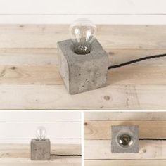 DIY: concrete lamp by alyson
