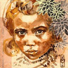 Flowers in sepia - Madagascar   Stephanie Ledoux