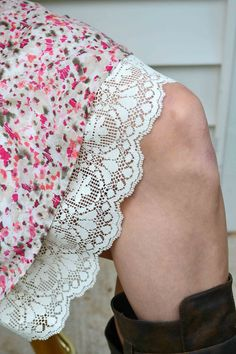 Antique Lace Slip Extender by BabblingsAndMore on Etsy, $25.00. I'd just add a length of lace to any skirt that fit well but was a bit short for my liking