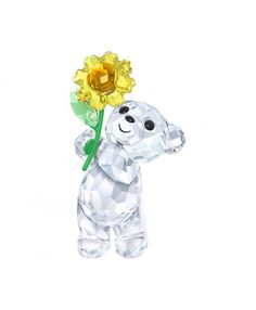ad547952a Swarovski Kris Bear - A Sunflower for You Swarovski Outlet, Swarovski  Jewelry, Swarovski Crystal