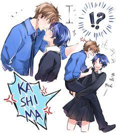 Kashima Yuu x Hori Masayuki / Gekkan Shoujo Nozaki-kun Shoujo Ai, Gekkan Shoujo Nozaki Kun, Manga Love, Anime Love, Monthly Girls' Nozaki Kun, Manga Artist, Cute Anime Couples, Manga Comics, Mystic Messenger