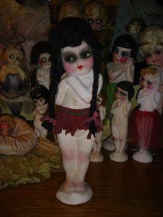 "Large 18"" Chalkware Flapper Carnival Kewpie Doll.  via Etsy."