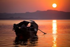 Sunset at Myanmar, one of the most beautiful sunset that we've ever witnessed