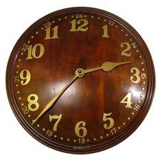Convex Wall Clock  England 1960's
