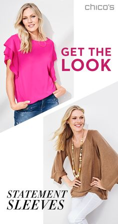 Make a statement in sleeves that cleverly conceal and extend your fashion reach. From lightly tiered ruffles to full-length kimono, there's a sleeve that speaks to your style at chicos.com.