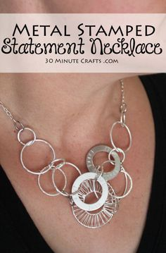 Metal Stamped Statement Necklace in less than 30 Minutes