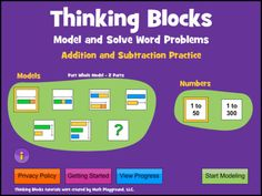 Thinking Blocks Addition/Subtraction teaches children how to model and solve word problems with the Singapore Bar Model Method. The website has been available for almost 10 years, now in an easy to use ipad format.  Opinion?  Best bar model app out there. And they're free.