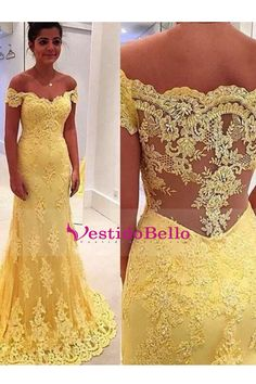 Outlet Distinct Prom Dresses Lace Elegant Mermaid Yellow Lace Off Shoulder Long Prom Dress Prom Dress, Prom Dresses Lace, Prom Dresses Yellow, Long Prom Dresses, Mermaid Prom Dresses Prom Dresses 2019 Evening Party Gowns, Mermaid Evening Dresses, Tulle Prom Dress, Long Prom Dresses Uk, Homecoming Dresses, Dress Long, Party Dresses, Formal Dresses, Prom Gowns