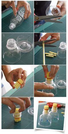 Dicas pra Mamãe: Maquina de bolhas de sabão com garrafa pet
