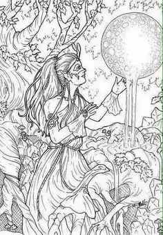 Beautiful Adult Fantasy Coloring Pages Coloring Pages | Coloring ...