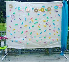 Donut Theme Birthday Party! Sprinkles Backdrop! Donut Theme Photobooth! Balloon Creations! Twisting Balloons!
