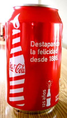 Coca Cola Can 125 years anniv. from Puerto Rico