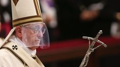 Pope Francis Wears Miter With Faceshield To Comply With New...