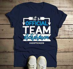 69cfaf18 Men's Personalized Adoption T Shirt Matching Custom Family Shirts Adopt  Adopting Tee