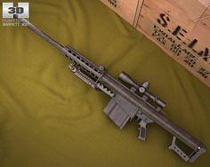 3D Model Barrett M82A1 c4d, obj, 3ds, fbx, ma, lwo 92903