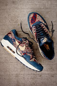 These Nike Air Max 1 X Liberty QS-Armory Navy/ Vachetta... ARE EVERYTHING