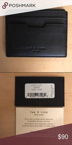 Rag & Bone Card Case NWT Black unisex card case. Never used, tags are shown. rag & bone Accessories Key & Card Holders