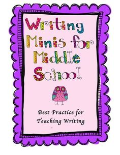 {freebie} this is a great resource to teaching middle school students to write!  It offers great advice at creating a writing workshop structure in the middle school.