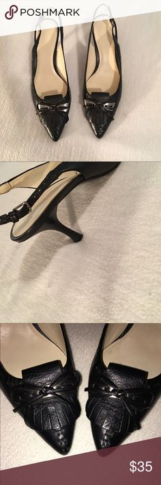 Cole Haan Heels Hello Beautiful Ladies! Welcome! These gorgeous heels are in perfect condition and can be worn with a very fancy outfit or simple pants! Perfect for a wedding, perfect for work! Worn only once but in absolutely mint condition. Might mistake as brand new. Happy shopping :) Cole Haan Shoes Heels