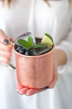 Berry Blueberries Moscow Mule Recipe
