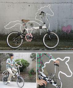 Horsey, by Eungi Kim, is an attachable bicycle accessory which turns your bicycle into a horse~~lol...wonder how'd this would go over if I rode it down High St.