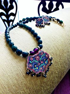 Meenakari Pendant Necklace | Avenue247