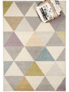 Amazon.de: benuta Teppiche: Moderner Designer Teppich Pastel Geomet Gelb 80x150 cm - GuT-Siegel