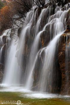 Nacimiento del Río Cuervo (Cuervo River birth place), Cuenca. Spain. Photo…