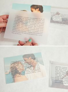 DIY idea for easily framing your wedding vows!
