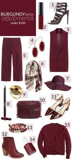 Poor Little It Girl - How To Wear Burgundy For Fall @poorlilitgirl